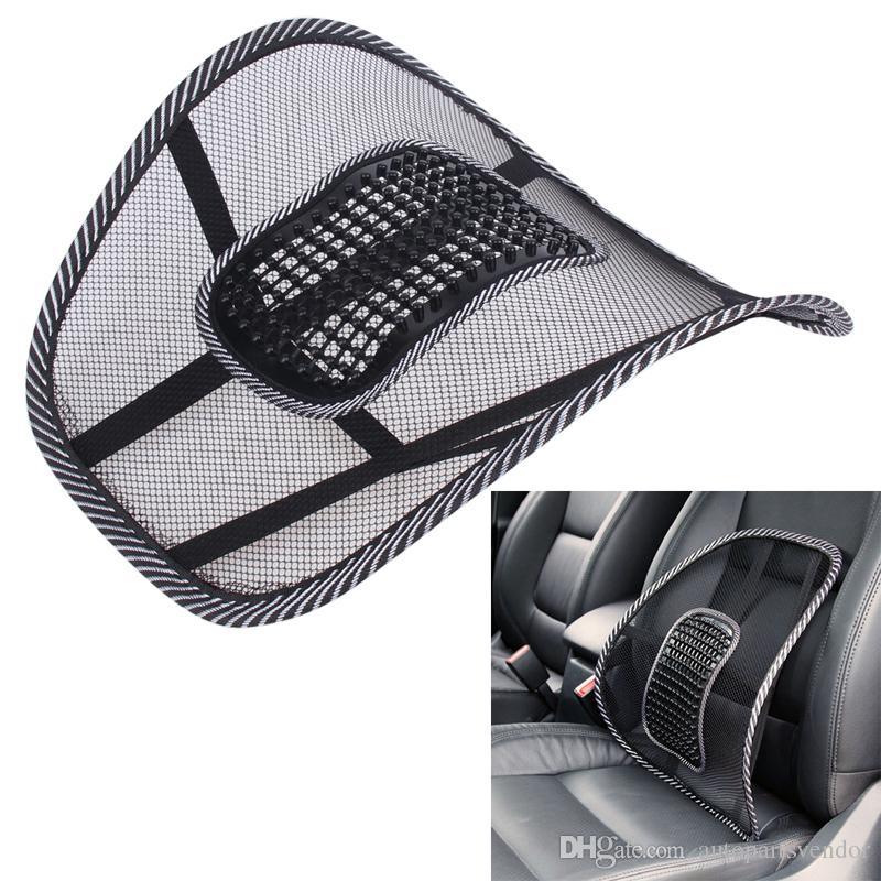 Universal Car Seat Chair Back Massage Lumbar Support Waist Cushion Mesh Ventilate Cushion Pad For Car Office Home Car Styling