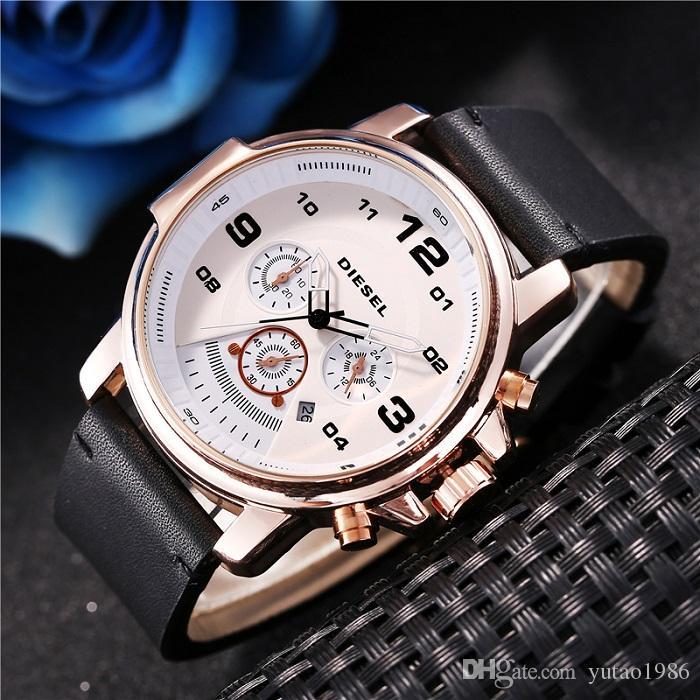 2020 Yeni Boş tarzı DZ Marka tasarımcı lüks mens saatler Büyük Patlama sıcak Kuvars İzle montre de luxe orologio di lusso saatler