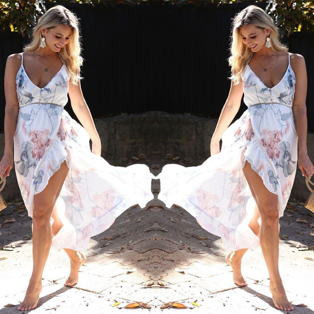 Maternity Lace Maxi Dress Motherhood Photoshoot Split Dresses for Pregnant Women