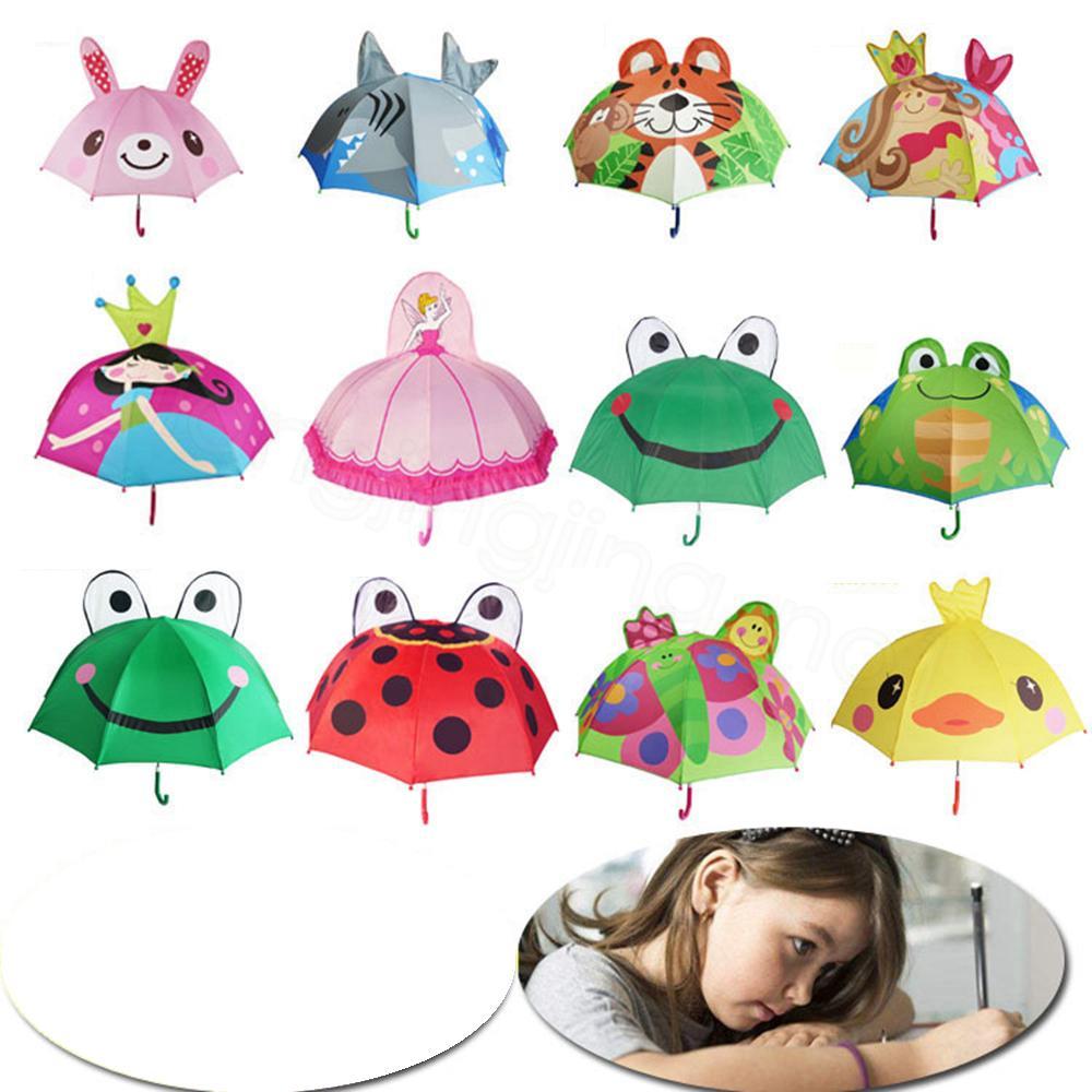 14Styles Güzel Karikatür Şemsiye hayvan Tasarım İçin Çocuk çocuklar 3D Yaratıcı Şemsiye bebek sevimli Şemsiye çocuklar hediye 47cm * 8K FFA3504d