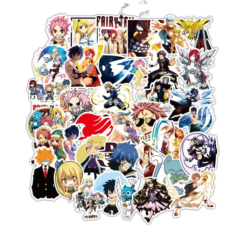 Fairy Tail Stickers Cute Anime Stickers | 50 PCS Vinyl Waterproof Stickers for Laptop,Skateboard,Water Bottles,Computer,Phone Fairy Tail-50