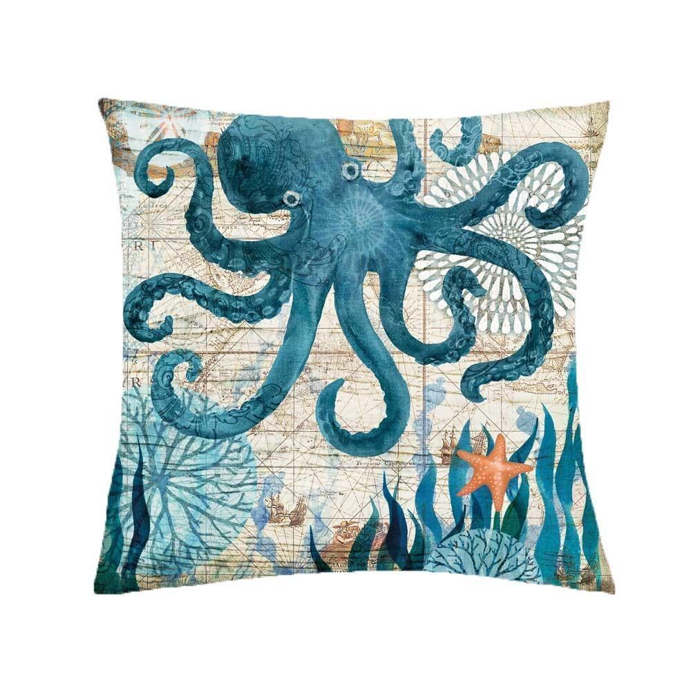 Turtle Pillow Case Sea Style Octopus Printing Polyester Throw Pillow Case Cover Sea Pillowcases Kussensloop Standard Pillow Case Size Sewing Pillowcases From Jurassicstore 9 22 Dhgate Com