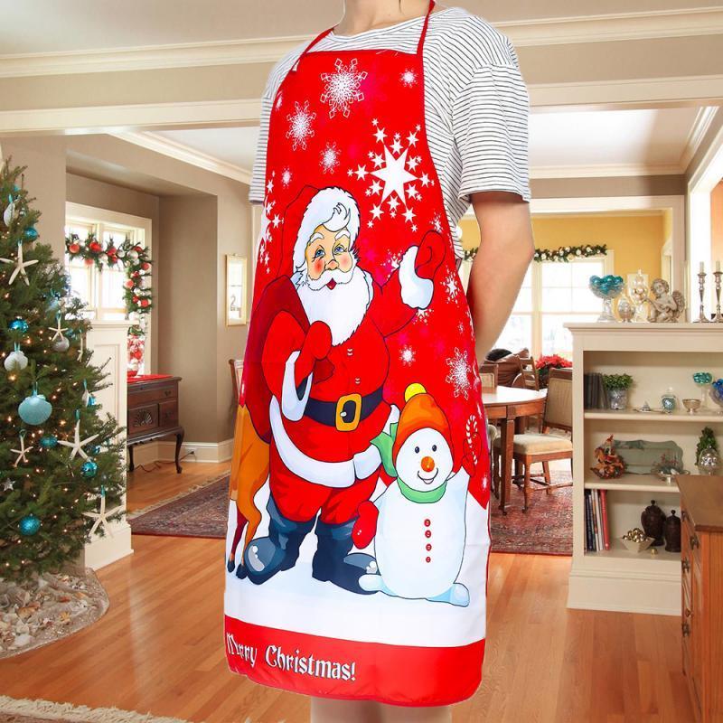 Noel Önlükleri Yetişkin Noel Baba Önlük Kadın ve Erkekler yemeği partisi Dekor Mini Noel Önlük Mutfak Temizleme Aksesuarları