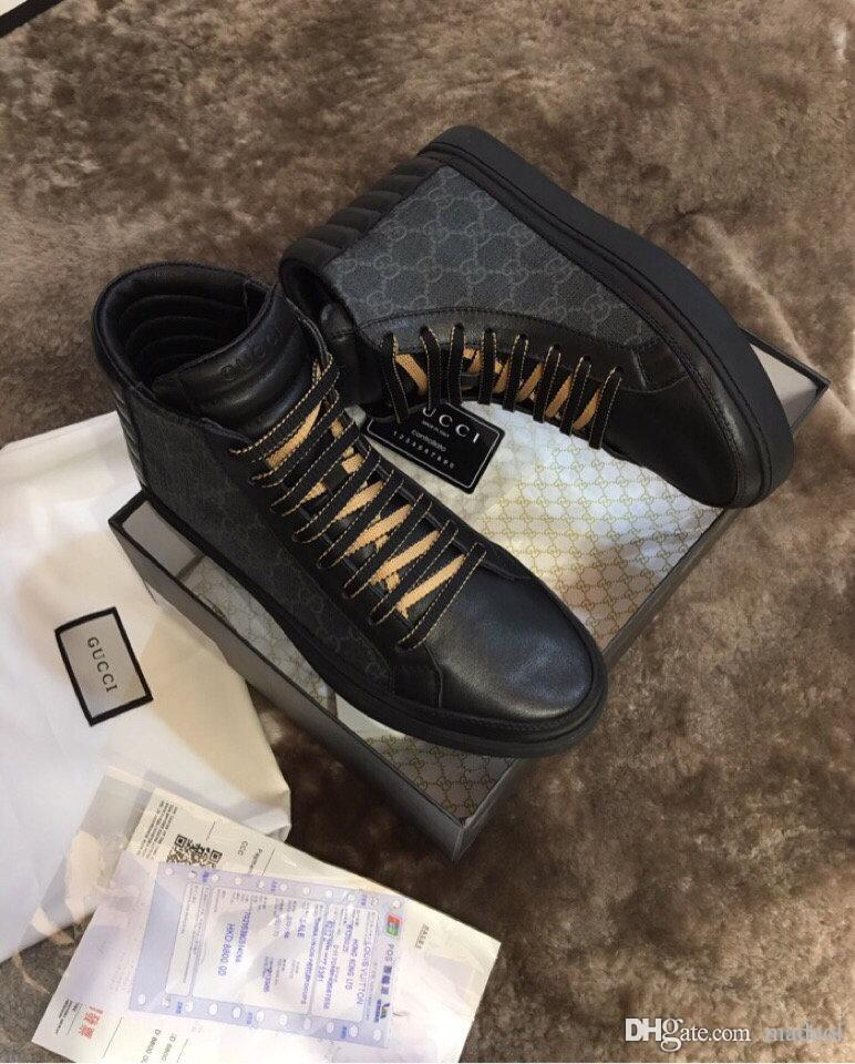 21SS 2020 MENs Scarpe da passeggio High Top Altezza crescente Esecuzione Sport Sneakers cinghia atletica leggera maschile Boot Bianco Marca Calzature nere MADAL