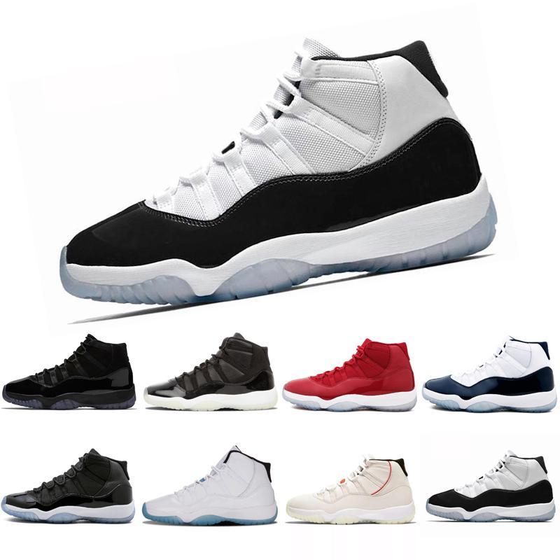 2018 Legend Bleu métallisé or Space Jam pour Hommes 11 Chaussures de basket-ball MID Athletic XI Sport Sneakers