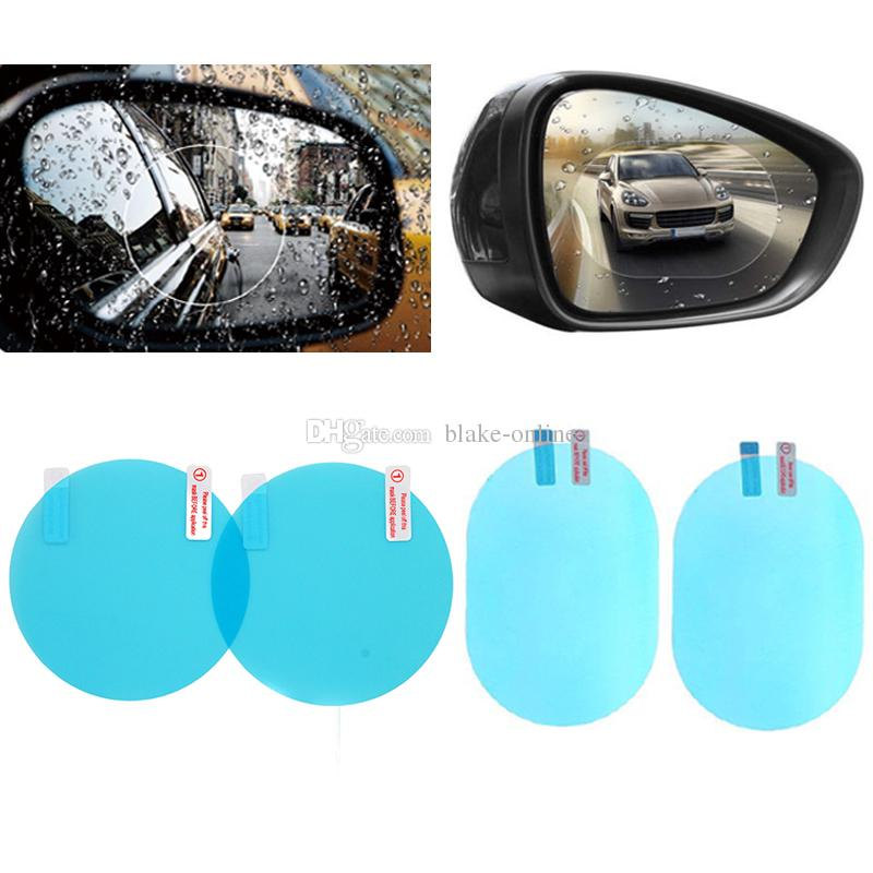 2pcs Rearview Mirror Protective Film Anti Fog Window Foils Rainproof Rear View Mirror Stickers Screen Protector Car Accessories With Package