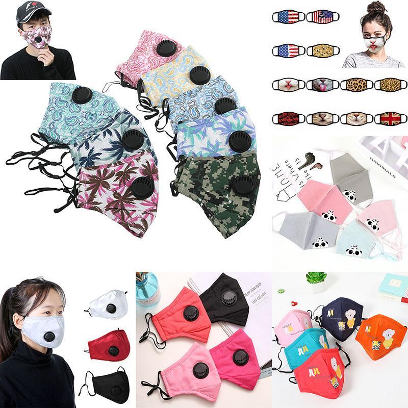 التنفس صمام مكافحة الغبار قناع الوجه للطي بدون صمام واقية ضد الغبار PM2.5 وجه أقنعة شحن مجاني