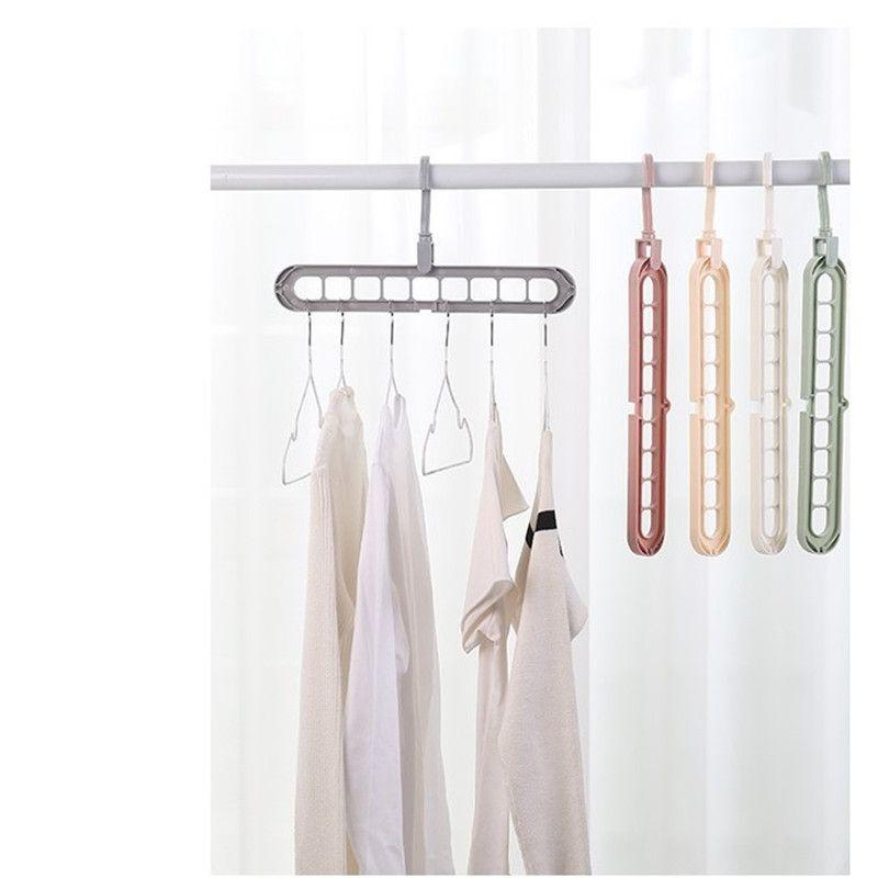 Perchas de ropa Gancho para ahorro de espacio plástico Suspensión de paño Armario gancho herramienta organizador del armario yq00703 mayorista