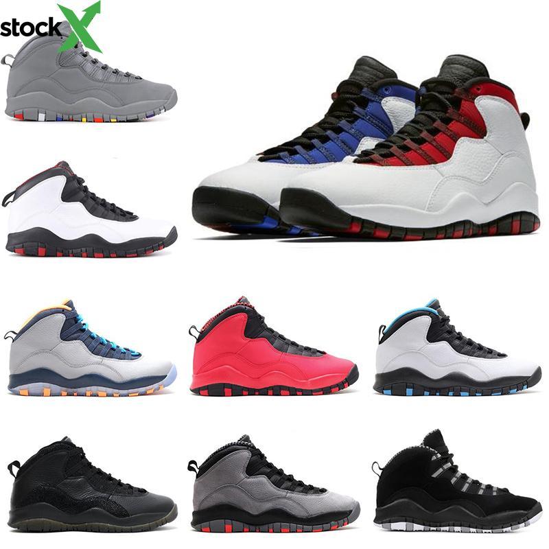 Freeshipping 10 10s mens scarpe da basket Cement Westbrook Sono tornato in acciaio grigio Orlando uomini addestratori della scarpa da tennis delle donne scarpe sportive di dimensioni 7-13
