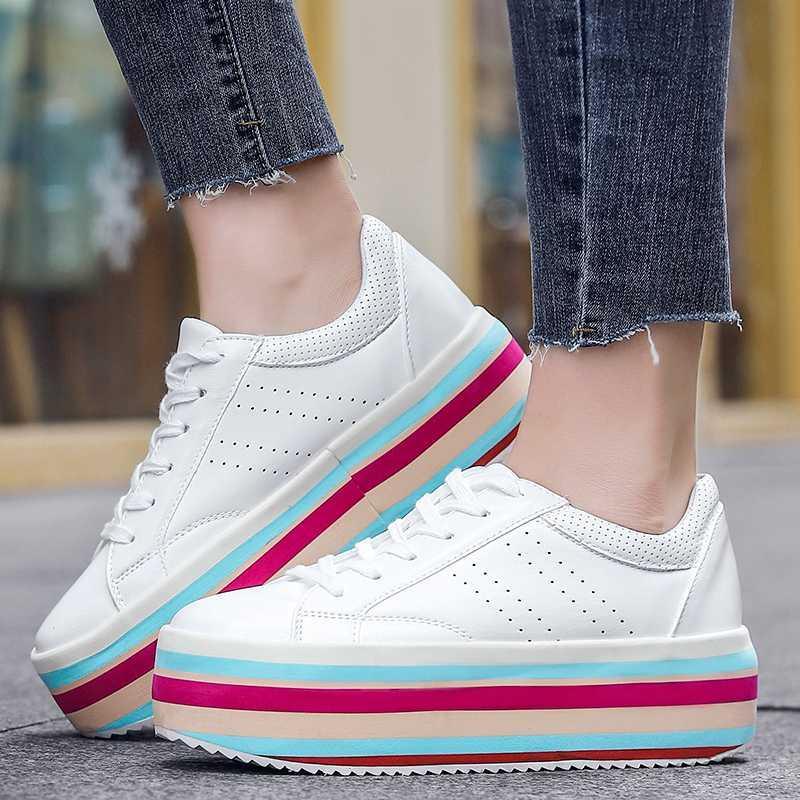 الساخن بيع الاحذية النساء سميكة منعل أحذية السيدات المشي الرياضة المطاط السيدات أحذية زلة المضادة المرأة رياضية