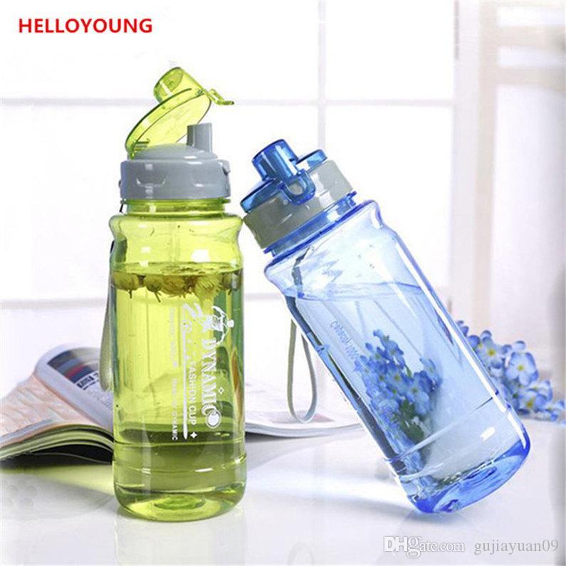 Bouteilles d'eau en plastique avec couvercle Filtre à lèvres Clamshell Drinkware Espace Bouteille sport Bouteille d'eau Bouteille Portable vente chaude