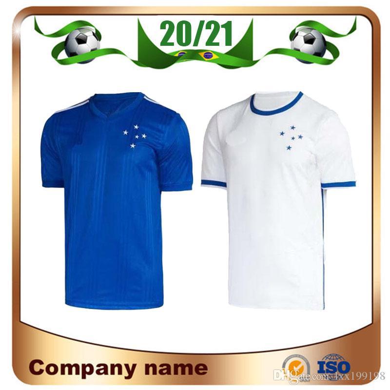 2021 البرازيل نادي CRUZEIRO كرة القدم جيرسي 20/21 الرئيسية الزرقاء # 10 ARRASCAETA # 8 HENRIQUE كرة القدم قميص بعيدا # 9 الموحدة FRED DEDE كرة القدم
