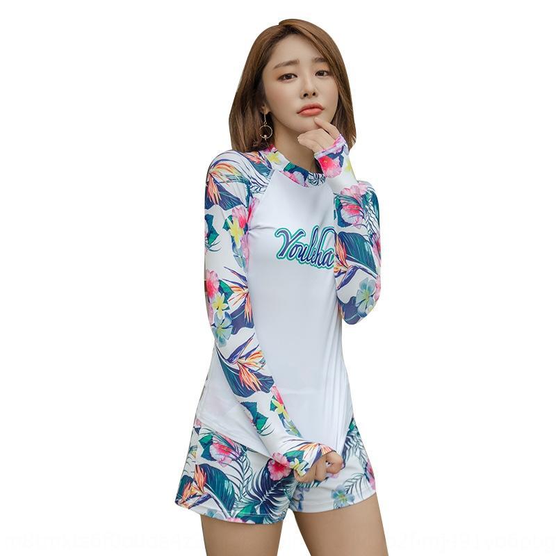 ZWjWq ad asciugatura rapida maniche lunghe sole lo snorkeling X1rVZ surf Diving scafandro tuta di protezione spaccato delle donne coreane boxer due pezzi dimagrante