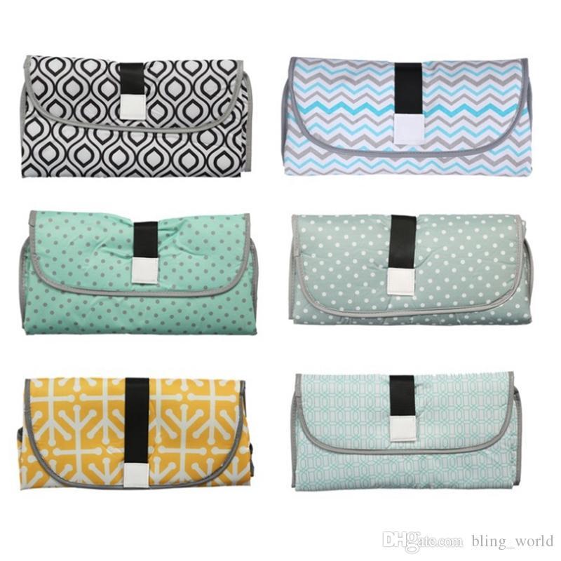 기저귀 변경 매트 방수 아기 변경 패드 여행 기저귀 가방 야외 미라 클러치 6 색 선택 YW2521 변경