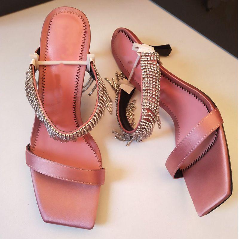 الشظية الأسود الوردي البرتقالي المرأة سبايك الكعب المصارع الصنادل بلورات الديكور السيدات الزفاف شرابات الأزياء اللباس الصنادل النعال الأحذية