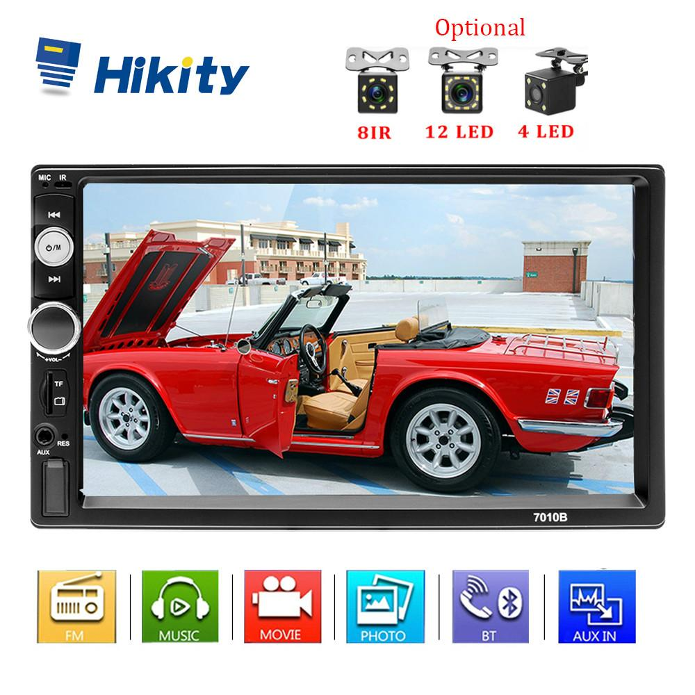 "Hikity Podofo 2 din Radio Car Autoradio Car MP5 Multimedia Player 7"" HD Mirror Android Lien TF Buletooth récepteur caméra de soutien"