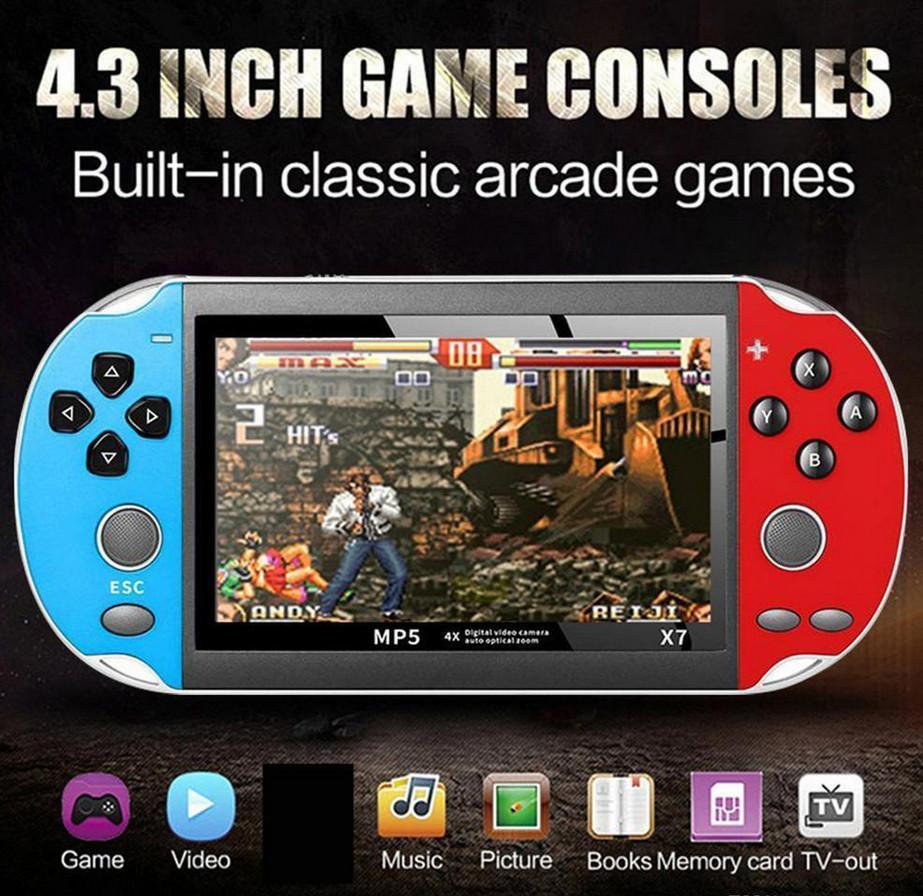 4,3 Zoll für GBA Handspiel-Konsole X7 Video Game Player 300 Kostenlose Retro Games LCD Display Game Player für Kinder