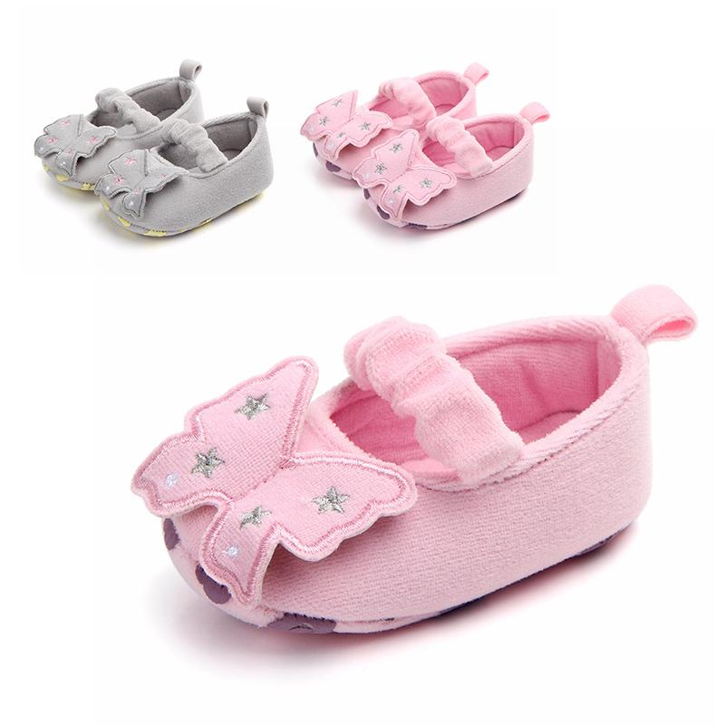 Bow-knot Toddler Baby Girls Flower Cute Shoes Princess Shoes Soft Sole Crib Spring Autumn First Walkers 0-18M