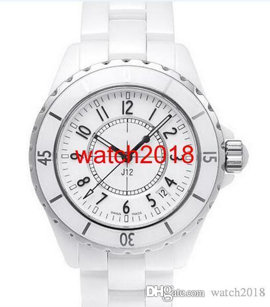 Luxury Watch NEW Men's H0970 White Ceramic 38mm Automatic Day NEW Scratch Resistant Sapphire Cool Mens Women Watches