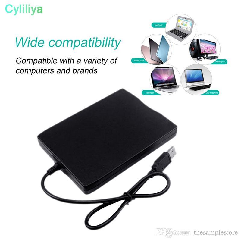 """Toptan 10 adet / grup Sıcak 1.44 Mb 3.5 """"Laptop için USB Harici Taşınabilir Disket Sürücü Disketi FDD"""