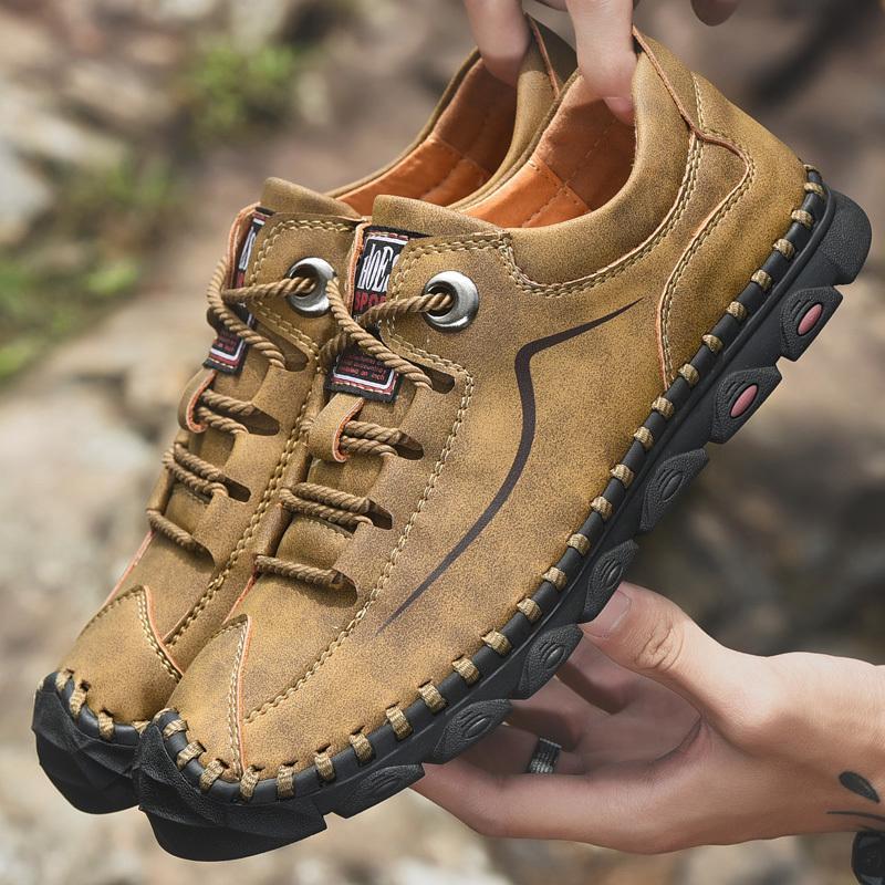 2019 New Casual Mocassins Hommes Chaussures en cuir de haute qualité Hommes Mocassins confortables Chaussures souples Flats Driving Chaussures Grande Taille 46 CX200624