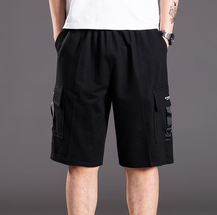 Summer Capri pants Cropped Trousers Extra Size Casual Pants Joggers Loose Baggy Mens Men's Trousers Fat Hip Hop Bottoms