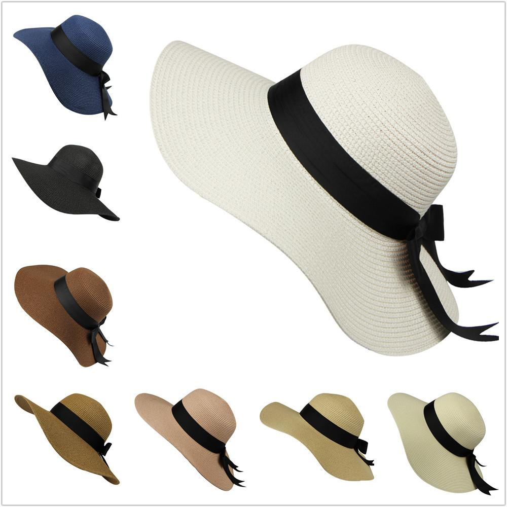 Salling Hat Women Elegant Spring And Summer Straw Hat Women Ladies Wide Brim Beach Multicolor Sun Cap gorra hombre