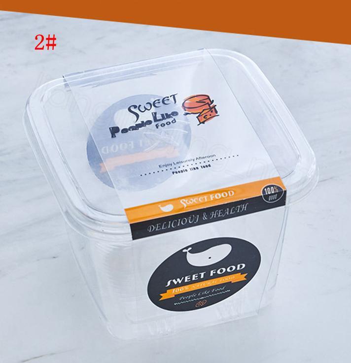واضح كعكة صندوق شفاف ساحة موس البلاستيك كب كيك علب مع غطاء اللوازم الزبادي الحلوى حفل زفاف مربع التعبئة والتغليف FFA3160