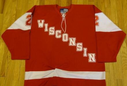 wholesale dealer fbbd7 c9e58 2019 Customize Vintage JAMIE MCBAIN USED UNIVERISTY OF WISCONSIN HOCKEY  JERSEYS Embroidery Stitched Or Custom Any Name Or Number Retro Jersey From  ...