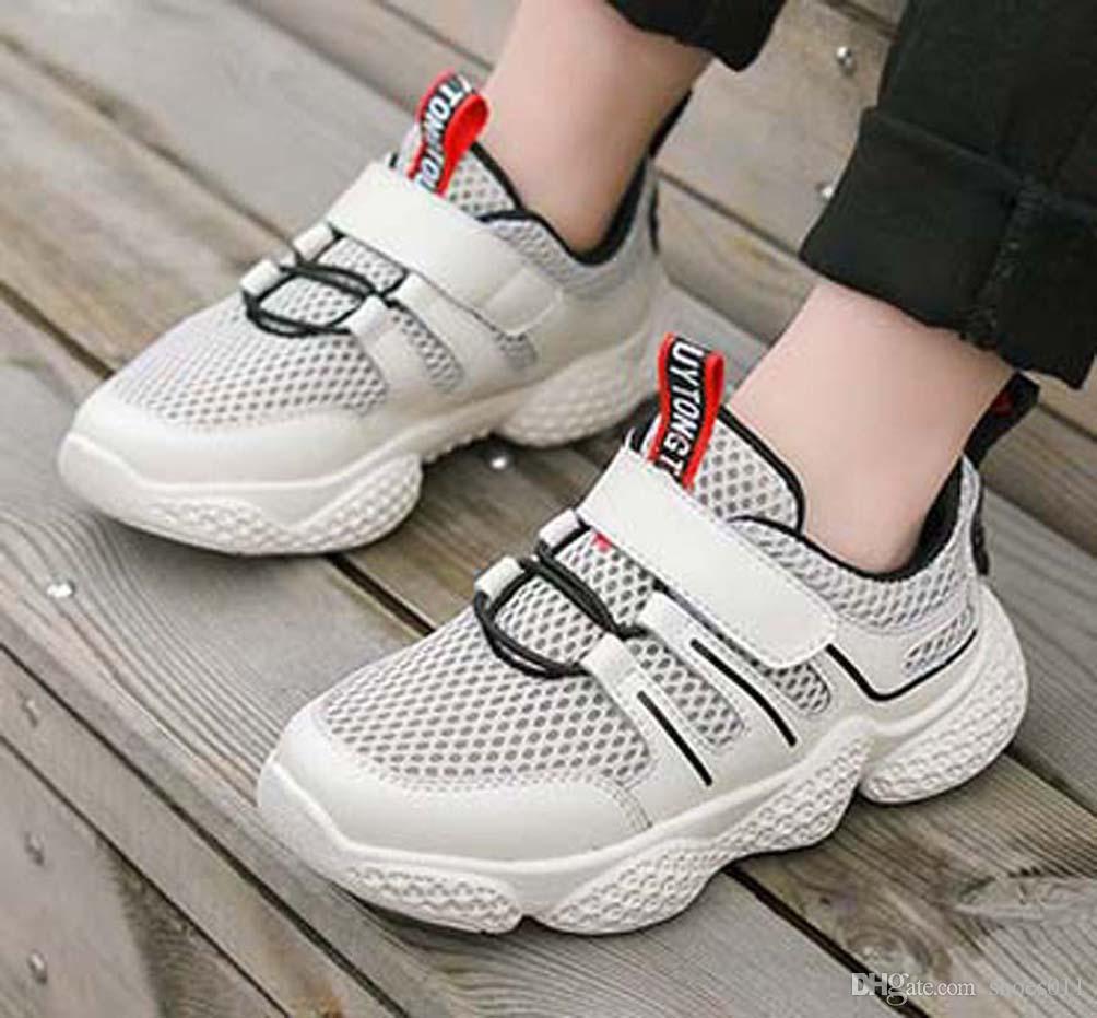 Top Quality clássico Sneaker Chaussures enfants Moda inteligente chaussures ar sapatos de couro plataforma crianças triplos sapatos shoes011 PX460