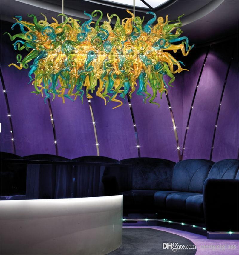 Artístico estilo italiano Blown Cadeia de vidro do vintage Lâmpadas Pingente Mão Alta Qualidade vidro fundido Lustres Iluminação Zhongshan Fabricante