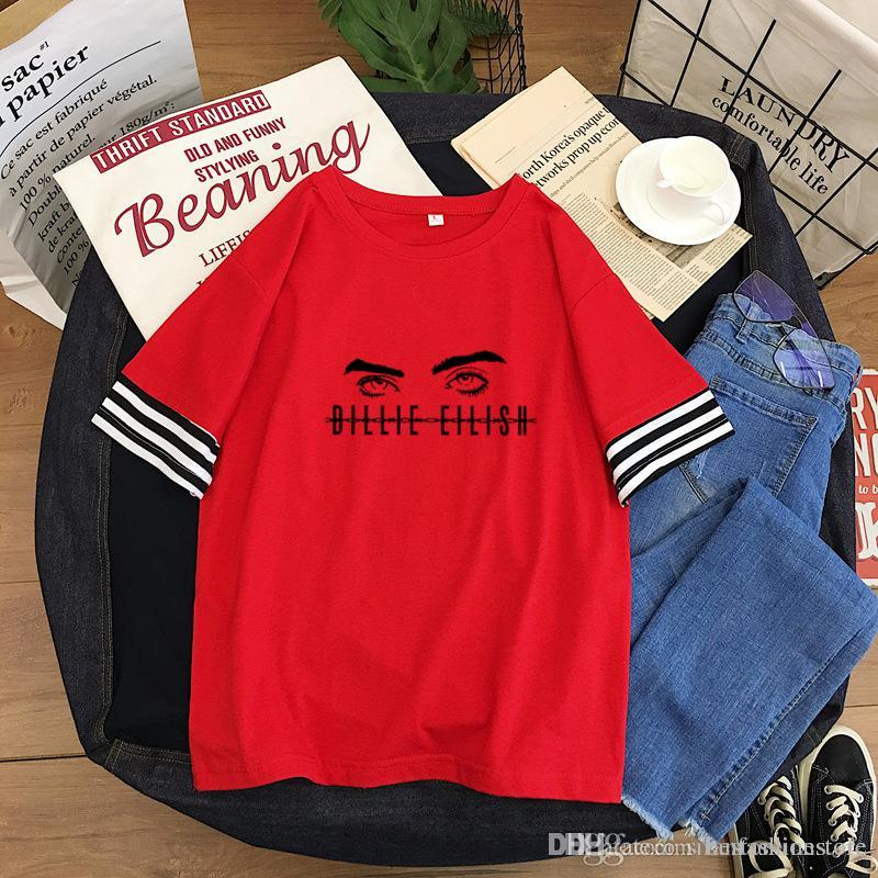 Billie Eilish T Shirt Harajuku Fans White Cotton Women Men Short Sleeve Tops