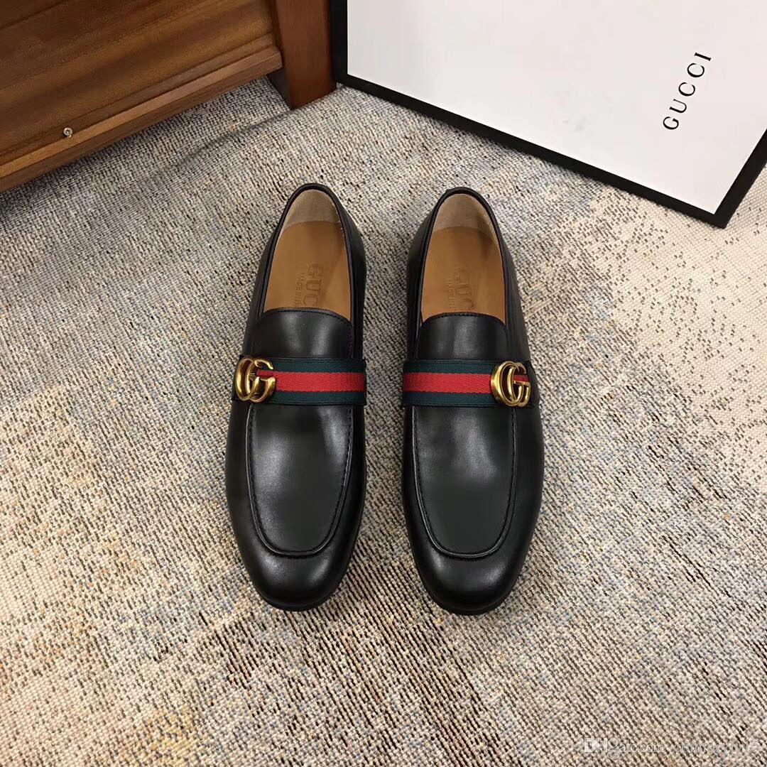 SICAK! Yeni Ucuz erkekler Gerçek Deri moda rahat erkek lüks ayakkabılarla erkek ayakkabıları deri malzeme erkek tasarımcı ayakkabı