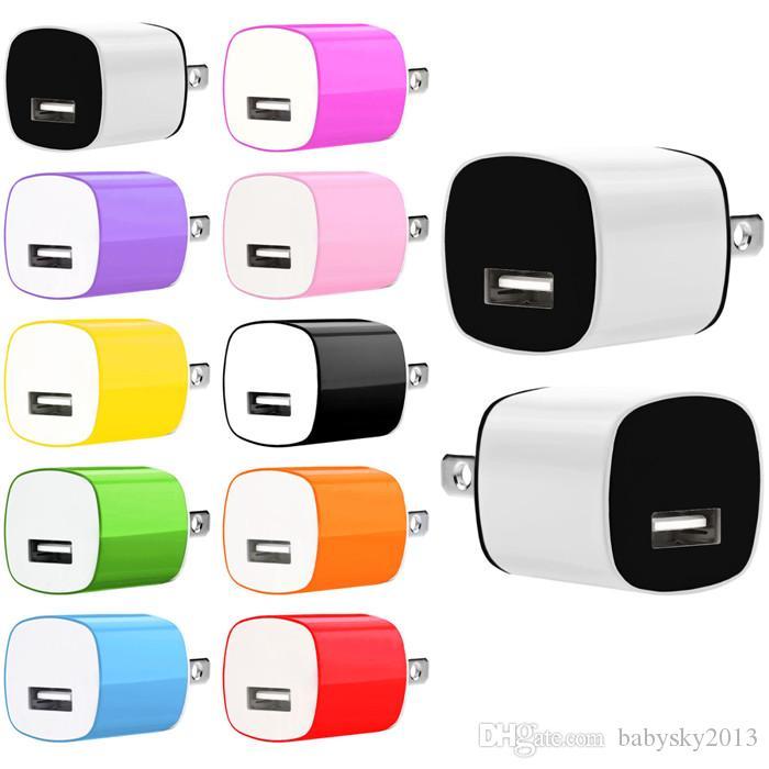 5 V 1A ABD AC Ev Duvar Şarj Güç Adaptörü Samsung Not 2 3 4 Için iphone 6 7 Artı MP3 GPS için