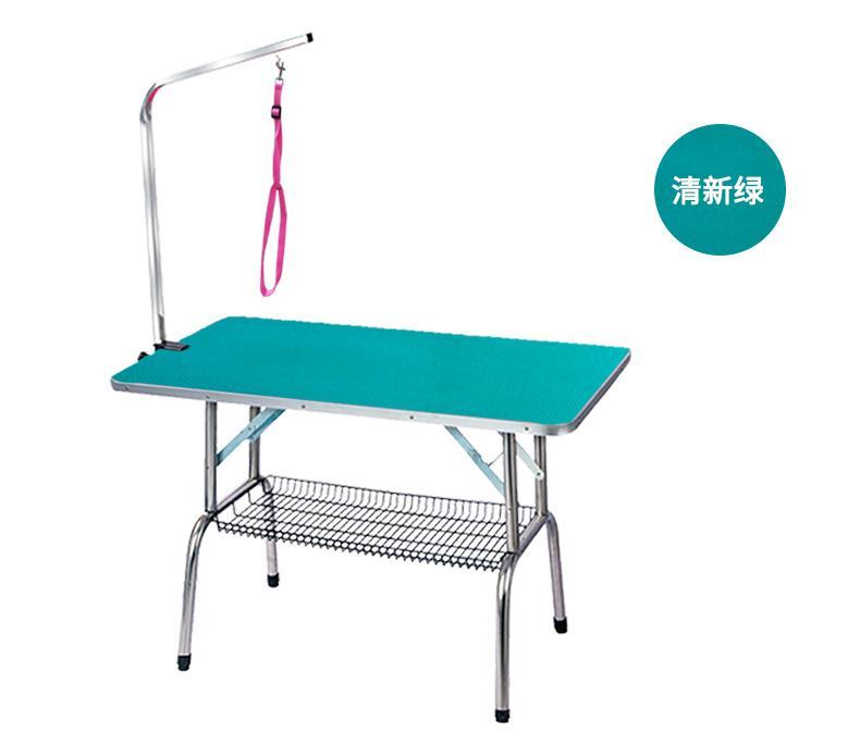 Aço barato dobrável inoxidável Pet Grooming Tabela de pequeno pet portátil operacional Rubber Table Bath superfície da mesa-de-rosa azul