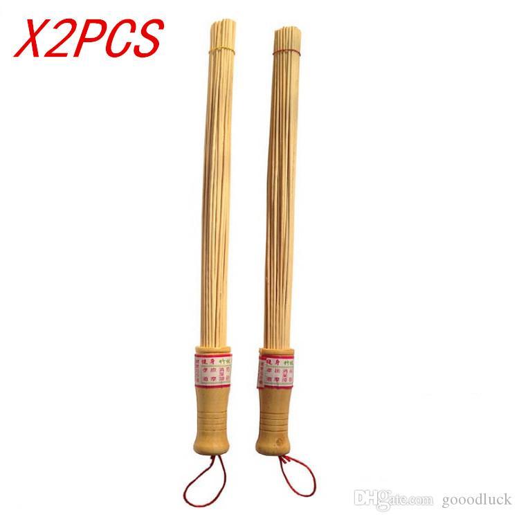 [Gesundes Leben] 2 stücke bambusholz massagegerät Entspannung Hammer Stick Entlasten muskelermüdung Umwelt Gesundheit holzgriff Health Care Tool
