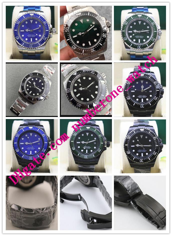 Lüks Saatler 44mm m126660 116660 Seramik Bezel Paslanmaz Çelik Otomatik Mekanik Siyah Mavi Yeşil Casual Safir Deniz Erkekler İzle