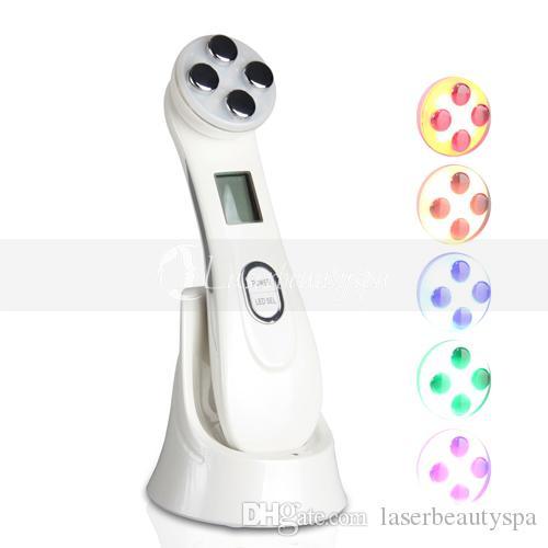 Новый светодиодный Фотон РФ Радиочастотная Уход за кожей подтяжки кожи Лечение акне Салон красоты Оборудование для домашнего использования