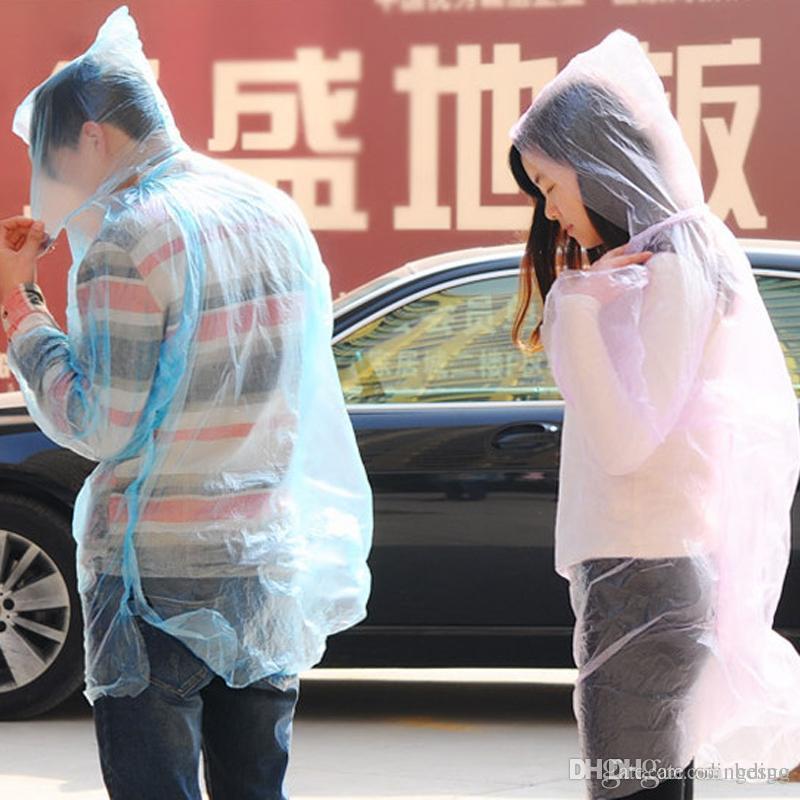 عالية الجودة الكبار الأطفال استخدام معطف واق من المطر الكثيف واحدة المشي لمسافات طويلة يمكن التخلص منها ملابس ضد المطر دعوى للجنسين غير سامة السلامة في الهواء الطلق المعطف DH0054