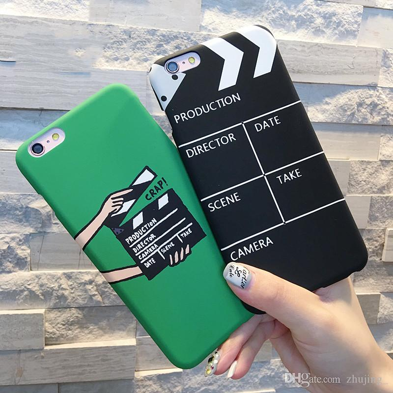 Cool Film Palettes Cas De Téléphone Pour iPhone XS Max XR XS 5 5S SE 6 6S 7 8 Plus X Dur Téléphone Mat Couverture Arrière Coque