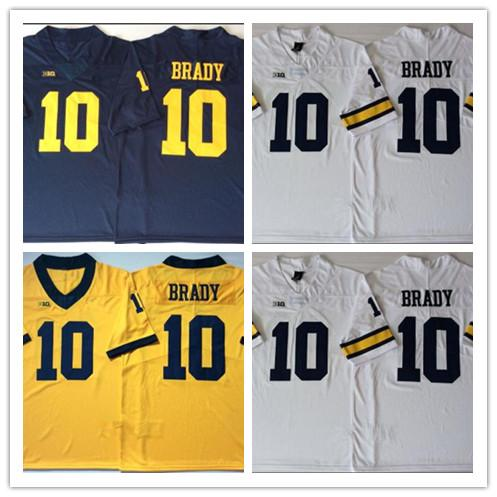 sports shoes 846ee d9615 2019 2019 Men Michigan Wolverines Jersey #10 Tom Brady White Blue Yellow  Stitched Limited Men College Football Jerseys From Dorajerseys, &Price; |  ...