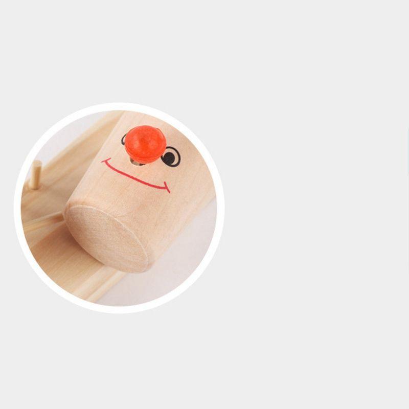 Baby Montessori Clown-Muster aus Holz Blöcke Baum Marmorkugellaufstrecke Spiel spielt