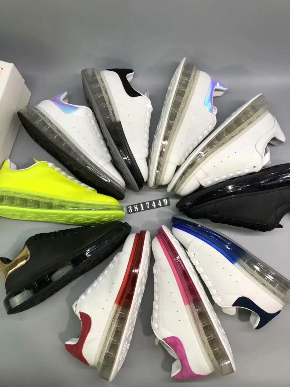 Hava ayakkabı Spor Ayakkabı artan Lüks Erkek Tasarımcı Ayakkabı Moda Kadın Sneakers Beyaz Siyah Deri Platformu minder Ayakkabı Lady yüksekliği