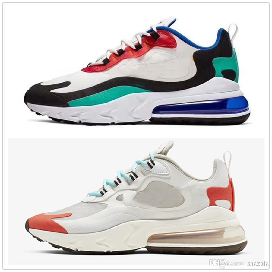Cheap Sea Green 27c reagiscono Mens scarpe Crema Blu Pallido Coral Bauhaus blu crepuscolo viola Hyper Jade brillante viola le scarpe da tennis correnti di sport