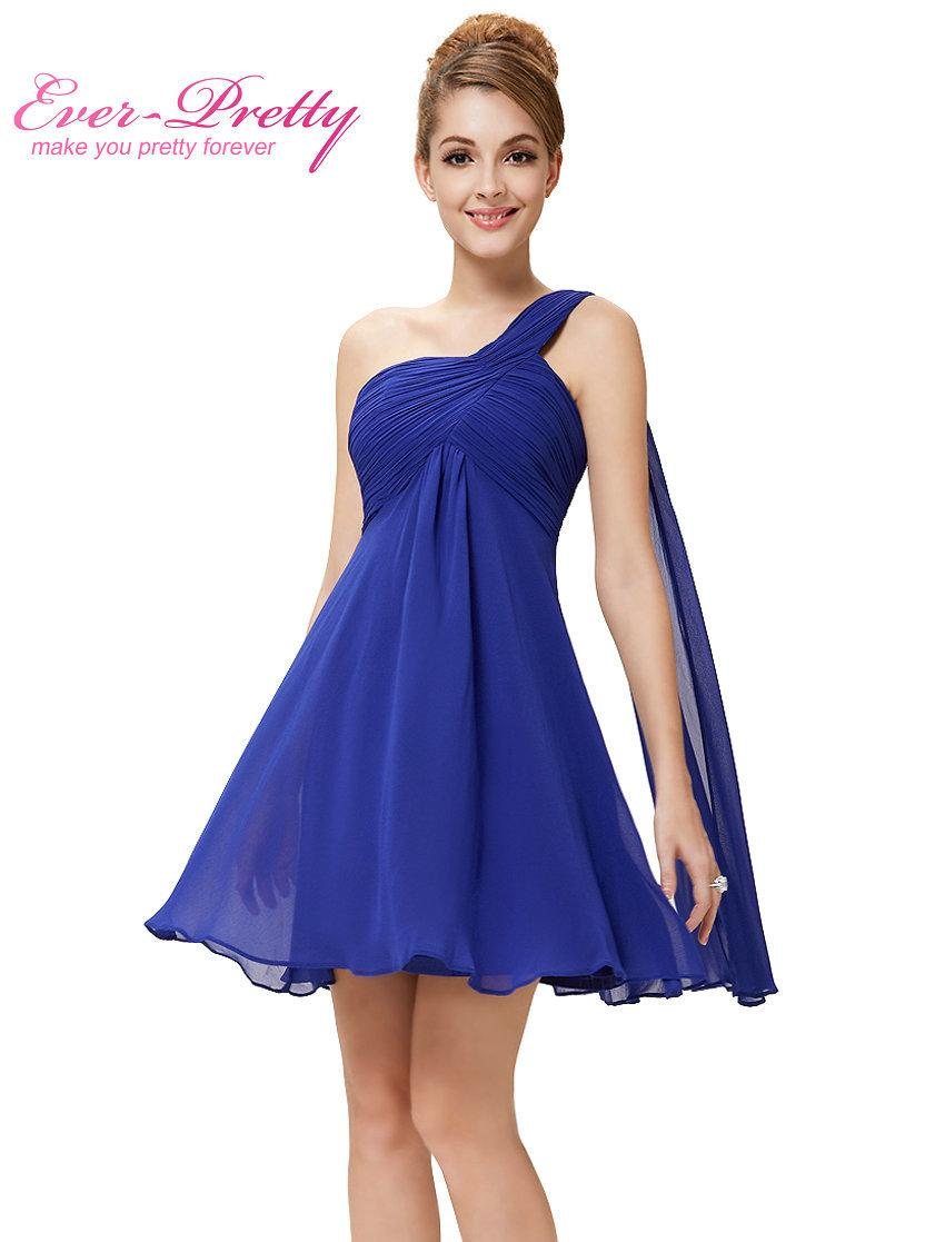 1818e7c995 Clearance Sale Cocktail Dresses Ever Pretty HE03537 One Shoulder Ruffles  Padded Chiffon Short Vestido 2017 Cocktail Dresses Clothing Dresses  Discount ...