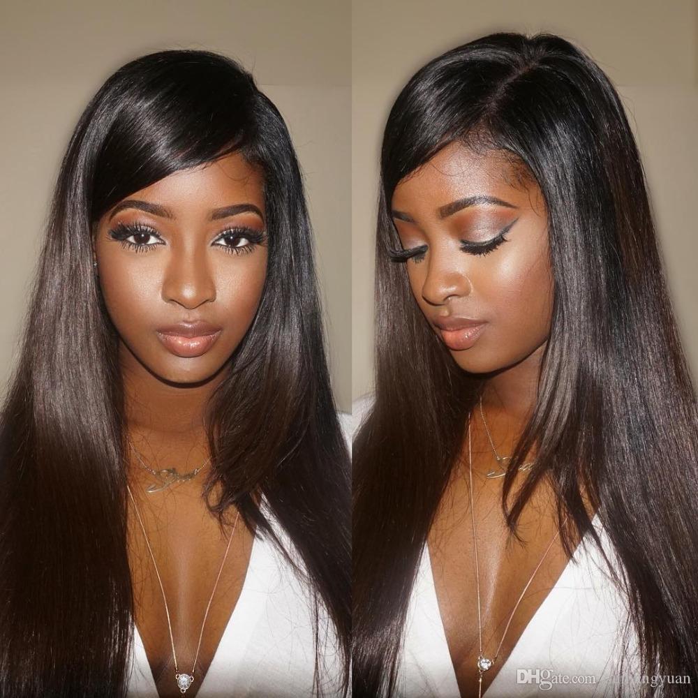 Densité 360 Dentelle Frontal perruque Remy Perruques droites 360 Remy Lace Front perruques de cheveux pour les femmes pour les femmes noires