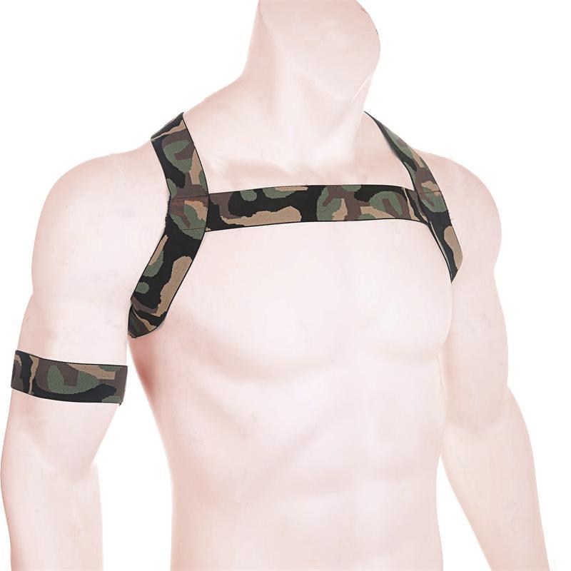Men/'s Muscles Protector Shoulder Wide Straps Harness Belt Club Wear Costumes
