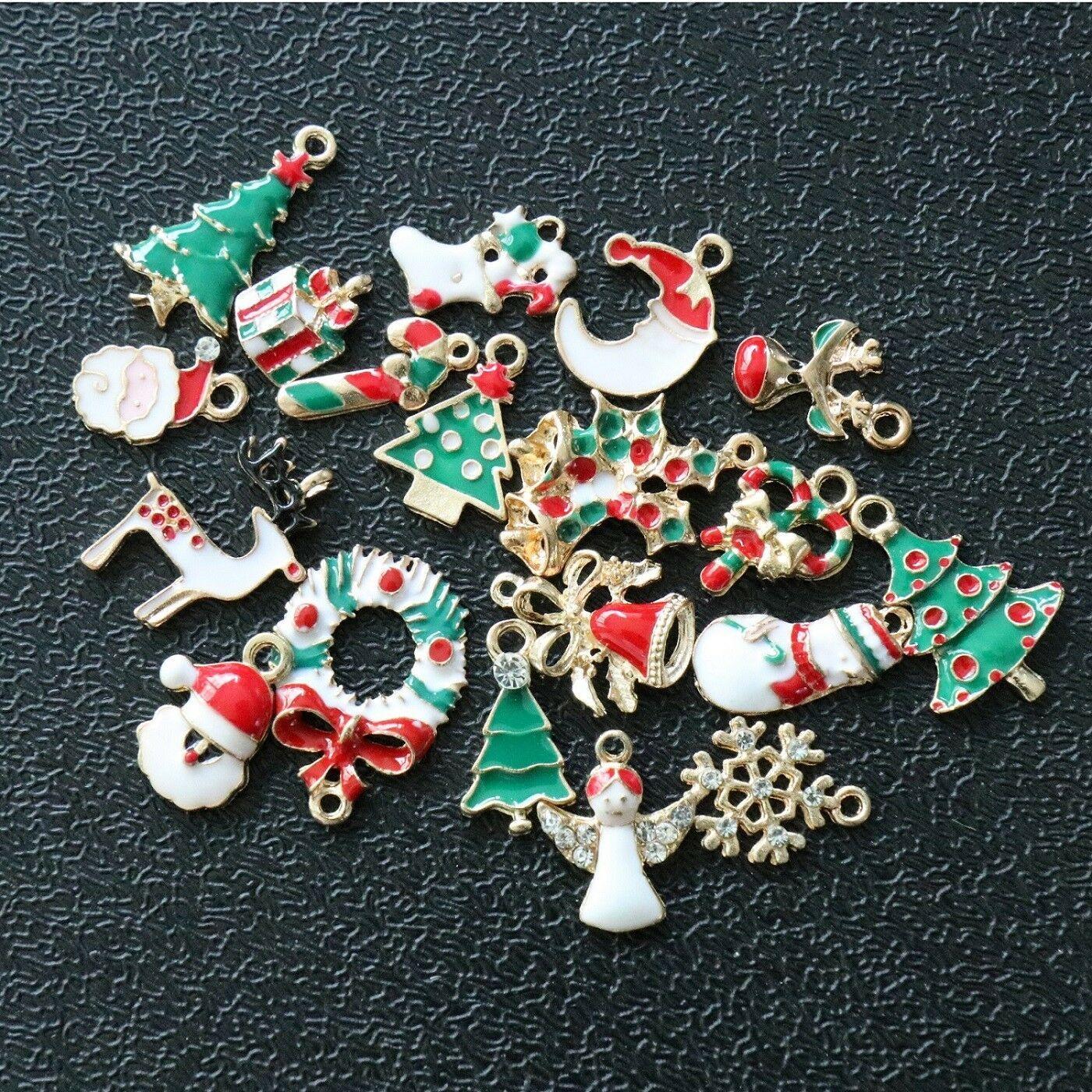 19 шт. / лот смешанные DIY Рождество Xmas дерево подвески украшения Рождественская елка висит украшения для дома B47