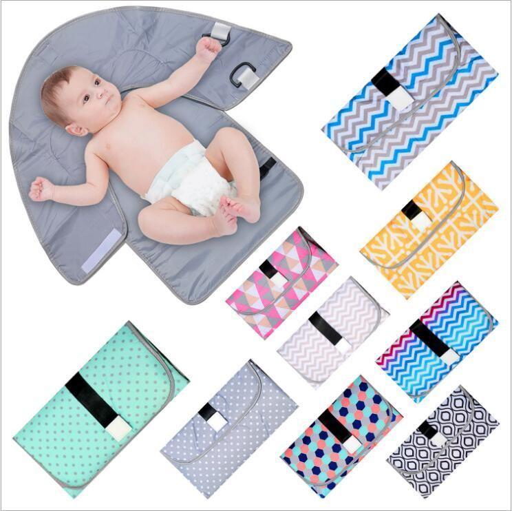 بول الطفل ماتس الرضع الحفاض حقيبة طفل حفاظة تغيير لوحة الغلاف الوليد متعدد الوظائف المحمولة البول حصيرة طوي ماتس B7384 مقاوم للماء