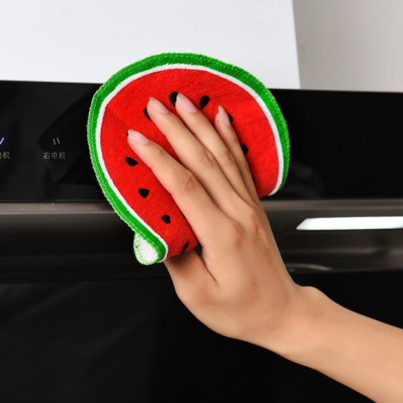الفاكهة طباعة فوط المطبخ هانغ جميل سريعة التنظيف الجاف خرقة صحن فوط القماش يدوية مطبخ تنظيف HHAA902